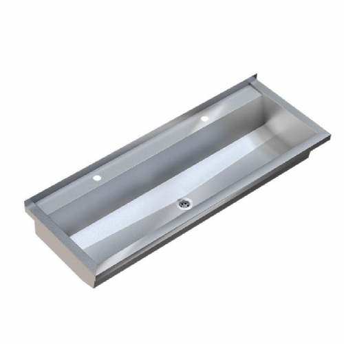 Franke PLANOX PL16T-UK 1600mm Stainless Steel Wash Trough (2 Tap Holes)